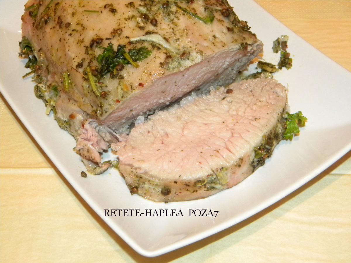 muschi de porc macerat la cuptor poza7